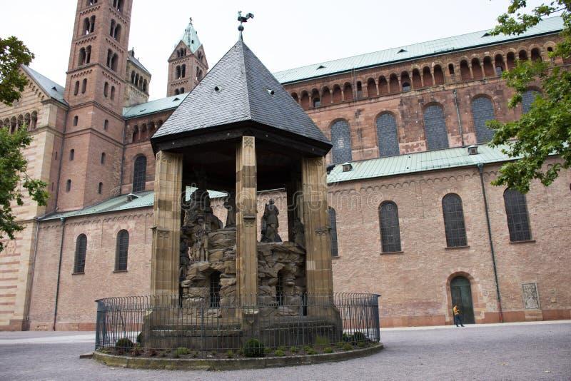El monte de los Olivos de la catedral de Speyer en la ciudad de Speyer en Renania Palatinado, Alemania fotografía de archivo