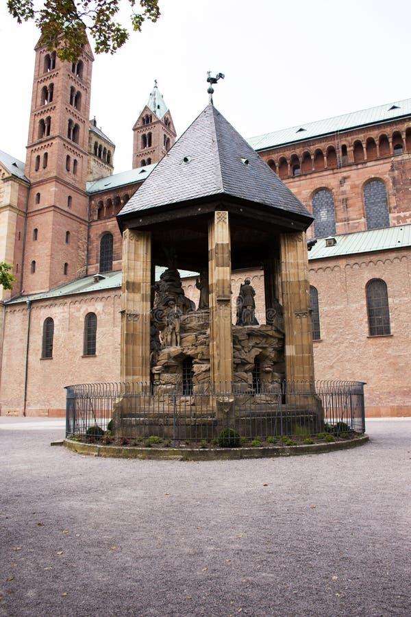 El monte de los Olivos de la catedral de Speyer en la ciudad de Speyer en Renania Palatinado, Alemania fotos de archivo