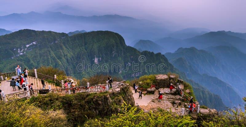 El Monte Emei fotografía de archivo