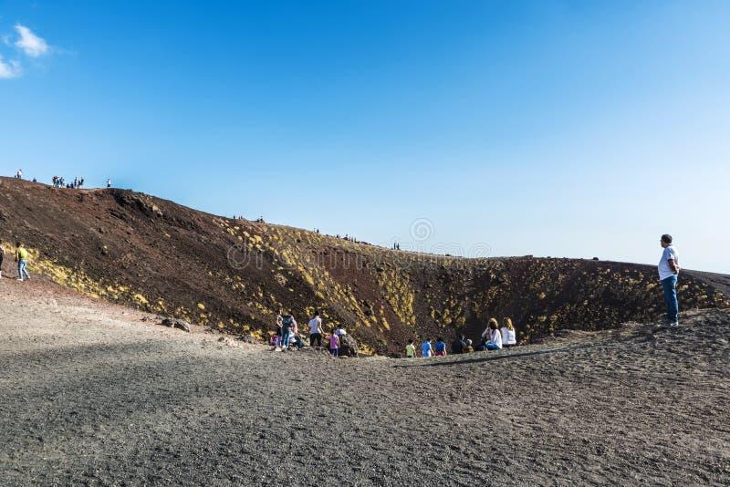 El monte Etna, volcán situado en Sicilia, Italia foto de archivo libre de regalías
