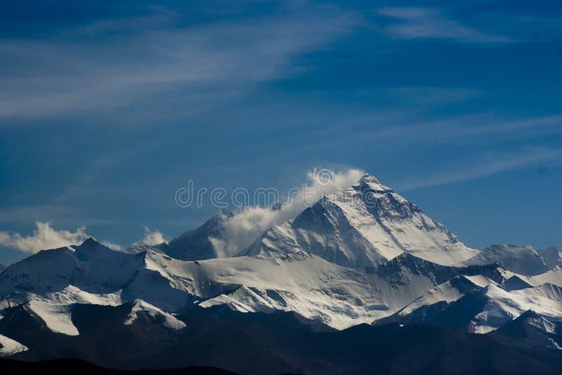 El monte Everest fotografía de archivo