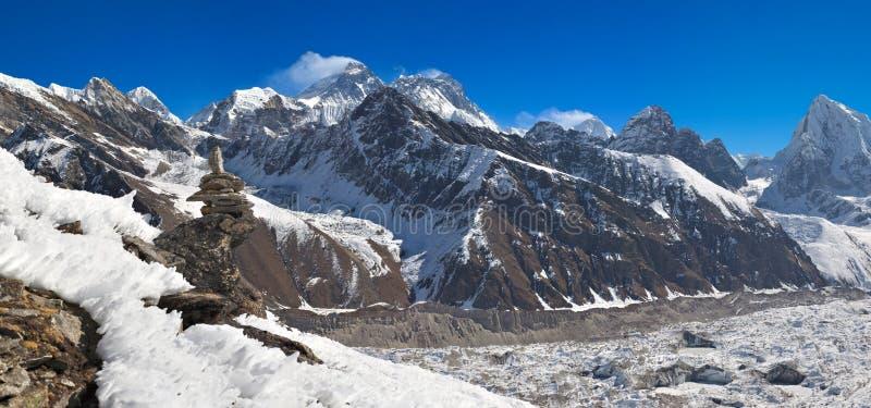 El monte Everest imágenes de archivo libres de regalías