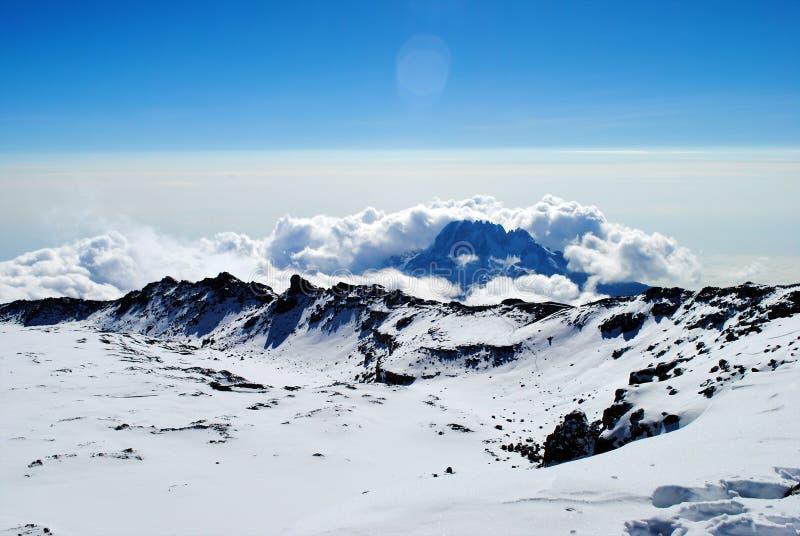 El monte Kilimanjaro foto de archivo