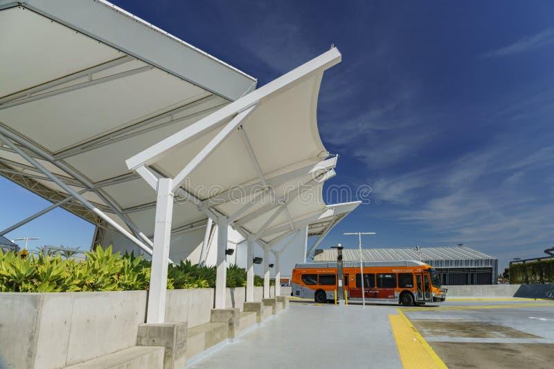 EL Monte Metro Station dans un jour ensoleillé images stock