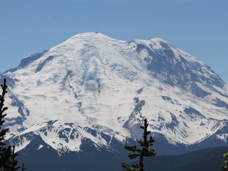 El Monte Rainier capsulado nieve foto de archivo libre de regalías