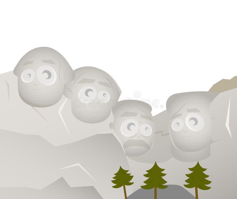 El monte Rushmore stock de ilustración