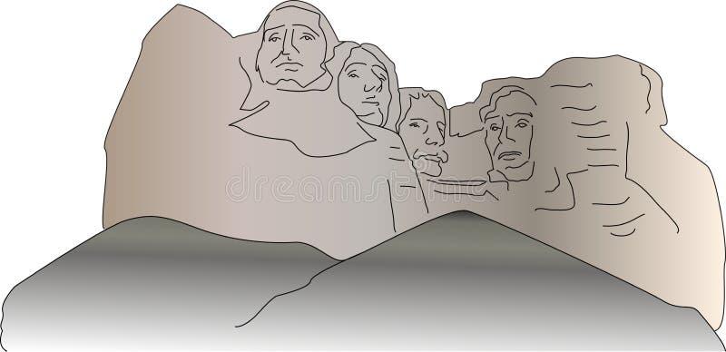 El monte Rushmore ilustración del vector