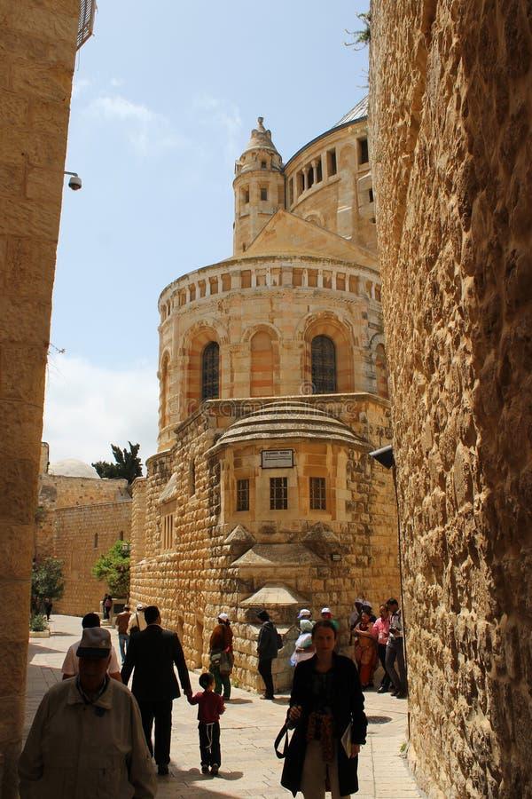 El monte Sion, Jerusalén, ciudad vieja, cerca a Tomb de rey David fotografía de archivo