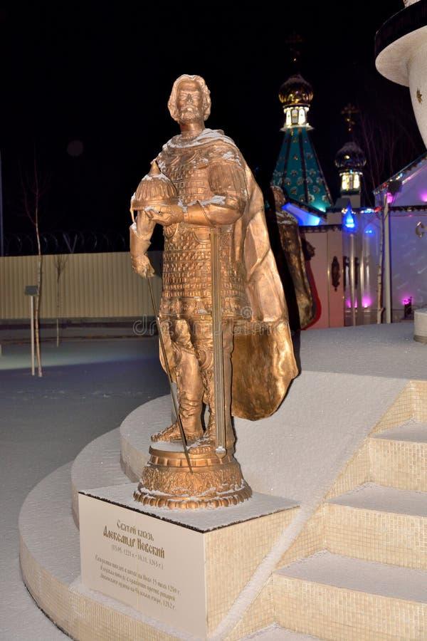 El monumento a Alexander Nevsky imagen de archivo
