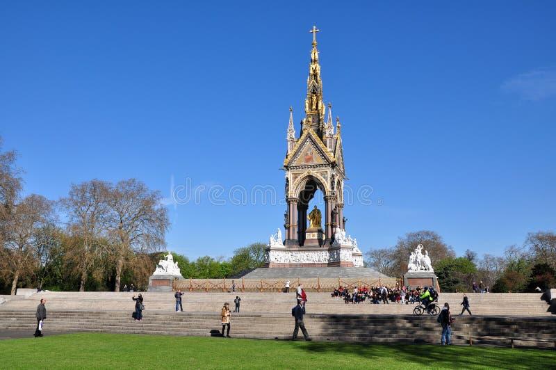 El monumento de Albert, Londres, Reino Unido imágenes de archivo libres de regalías