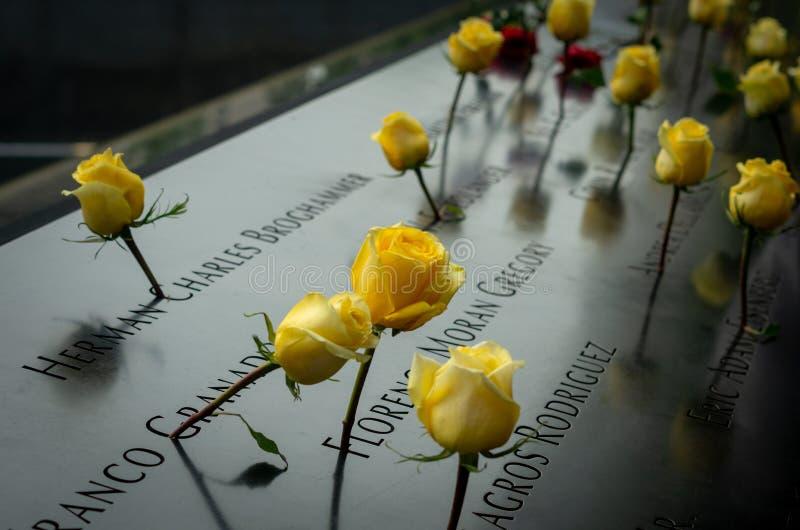 El monumento de 9/11 durante día del patriota fotos de archivo libres de regalías