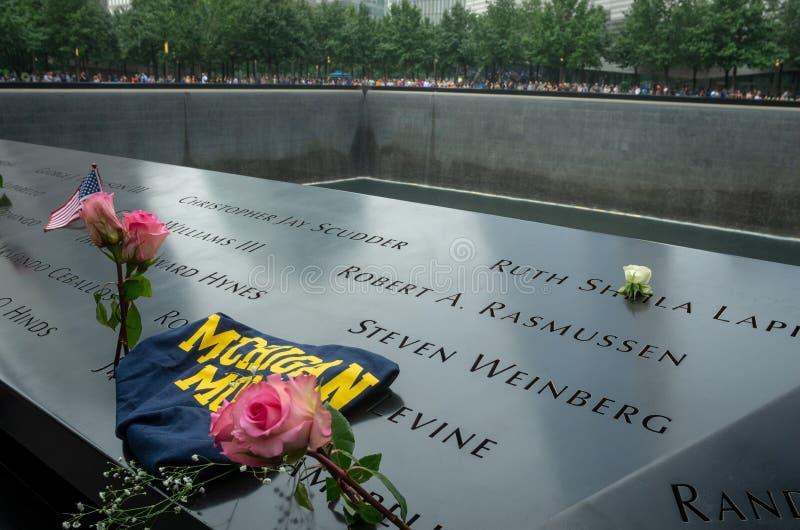 El monumento de 9/11 durante día del patriota imagen de archivo libre de regalías