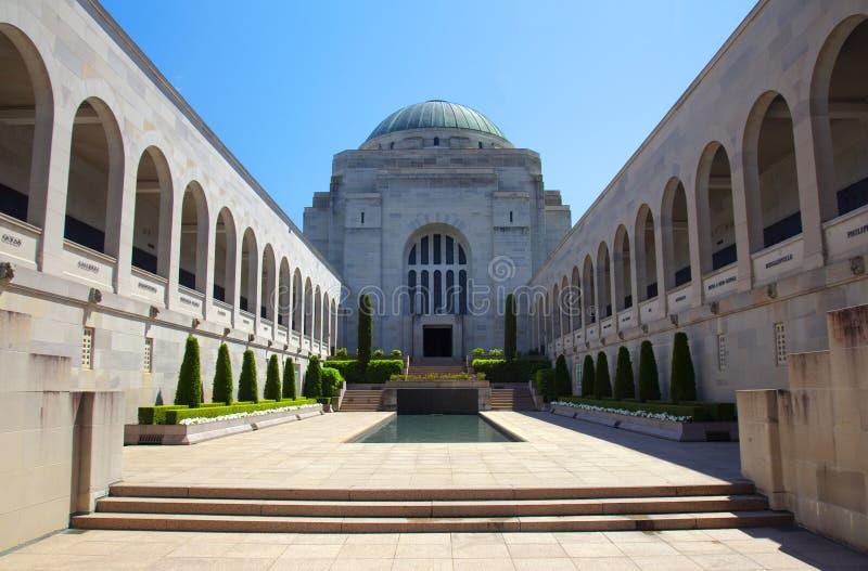 El monumento de guerra australiano en Canberra foto de archivo libre de regalías