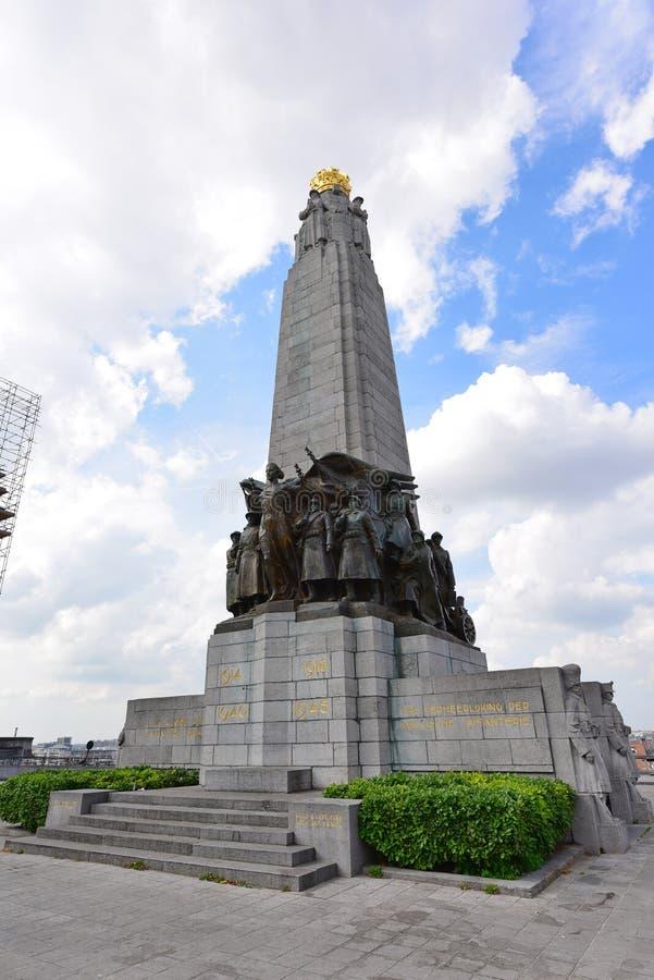El monumento de la infantería, en memoria de soldados de infantería belgas foto de archivo libre de regalías