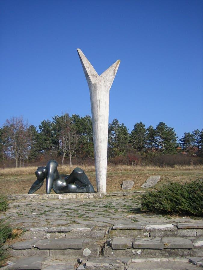 El monumento de la resistencia y de la libertad fotografía de archivo