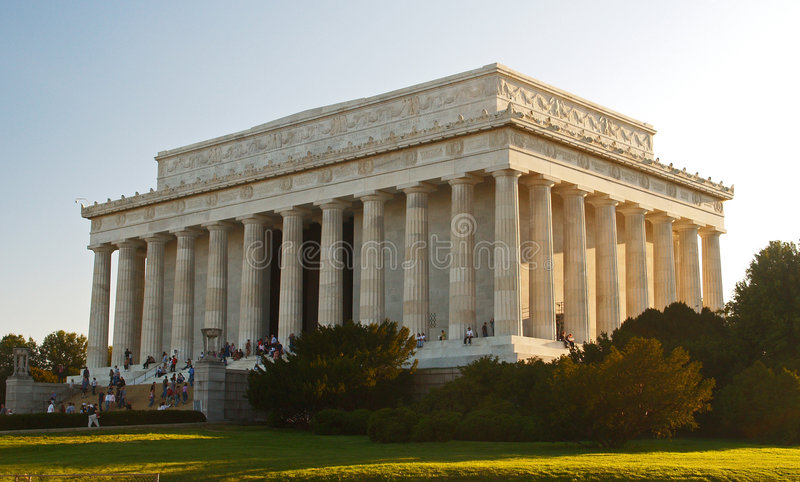 El monumento de Lincoln en la C.C. foto de archivo libre de regalías