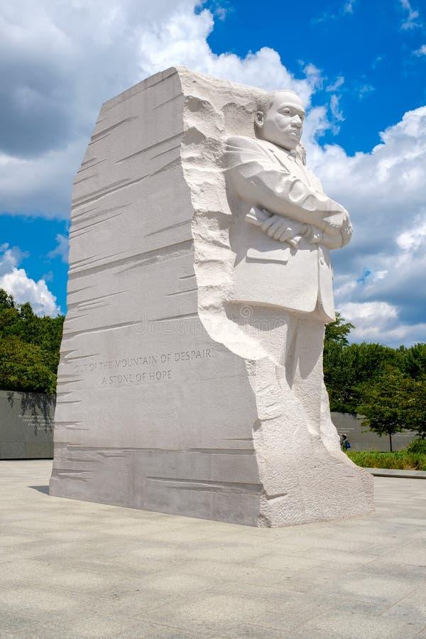 El monumento de Martin Luther King Jr Monumento nacional en Washington D C imágenes de archivo libres de regalías
