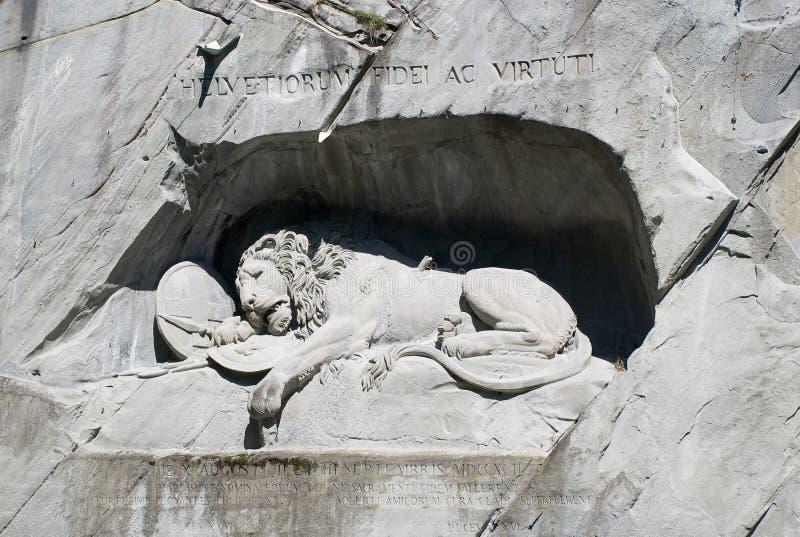 El monumento del león fotografía de archivo libre de regalías