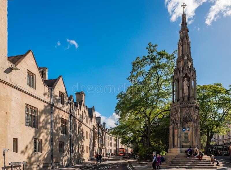 El monumento del ` s del mártir en Oxford fotos de archivo