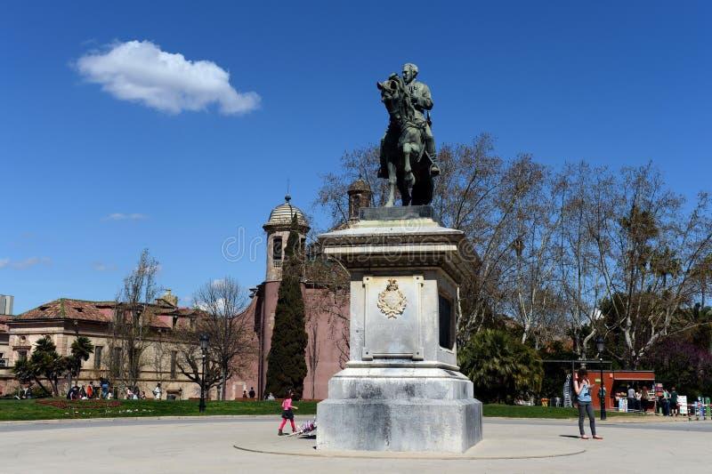 El monumento a general Joan Take en parque de la ciudadela imagen de archivo