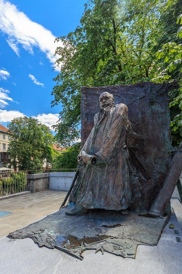 El monumento a Ivan Hribar imagenes de archivo