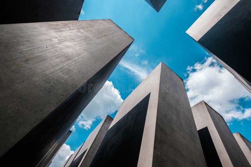 El monumento a los jud?os asesinados a K A Monumento del holocausto en Berl?n fotografía de archivo libre de regalías