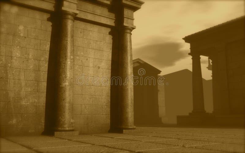 el monumento romano de la configuración 3d rinde ilustración del vector
