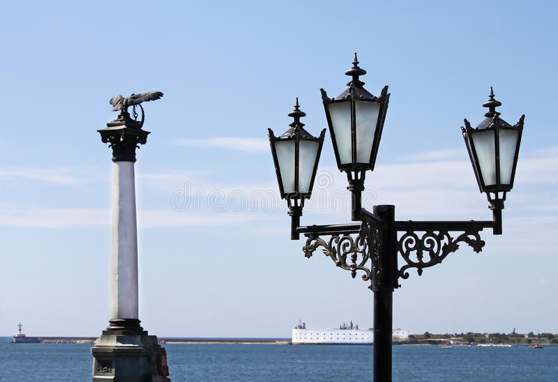 El monumento Sunken de las naves fotografía de archivo libre de regalías