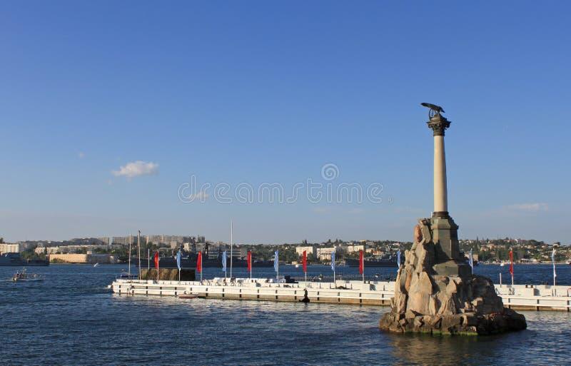 El monumento Sunken de las naves imagen de archivo libre de regalías
