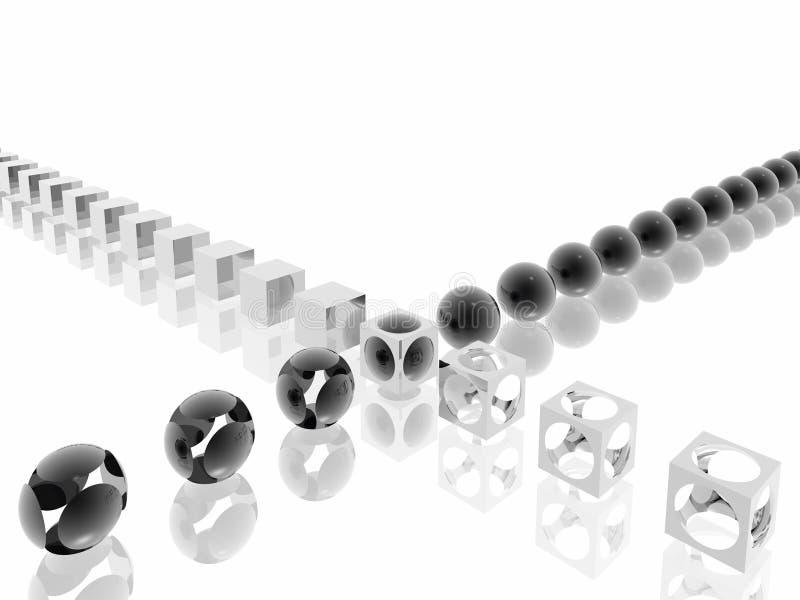 el morphing Negro-blanco ilustración del vector