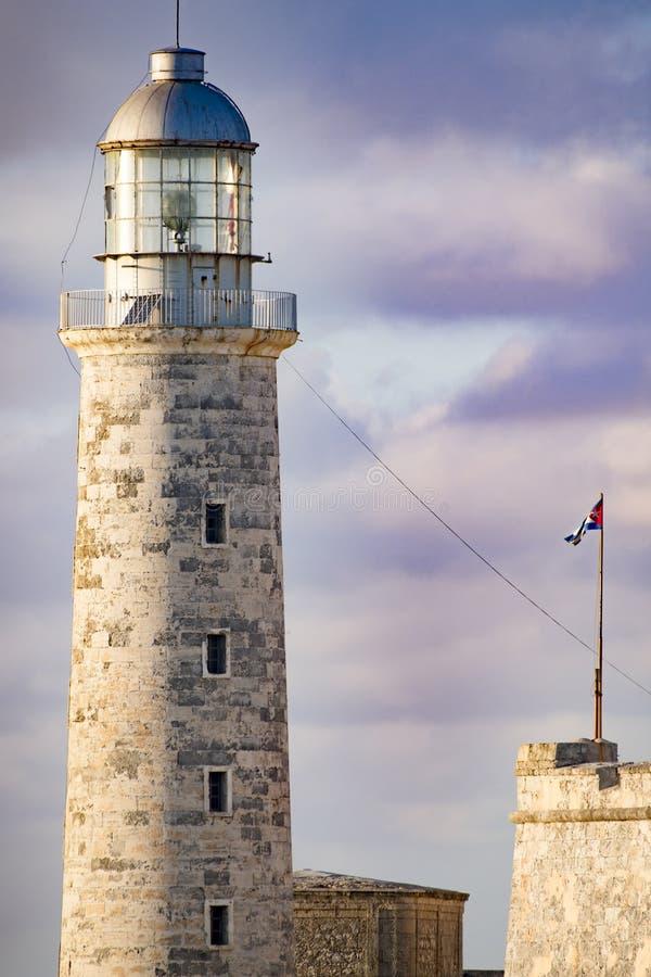 El Morro,哈瓦那,古巴灯塔堡垒  图库摄影