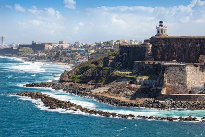 El Morro Castle in Old San Juan. Puerto Rico royalty free stock photos