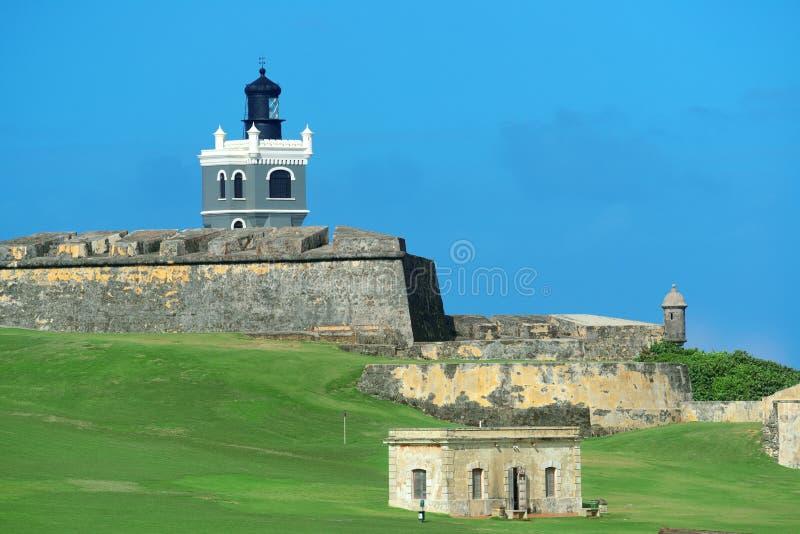 El Morro castle at old San Juan royalty free stock photos