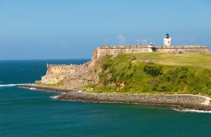El Morro Castle in Puerto Rico royalty free stock photography