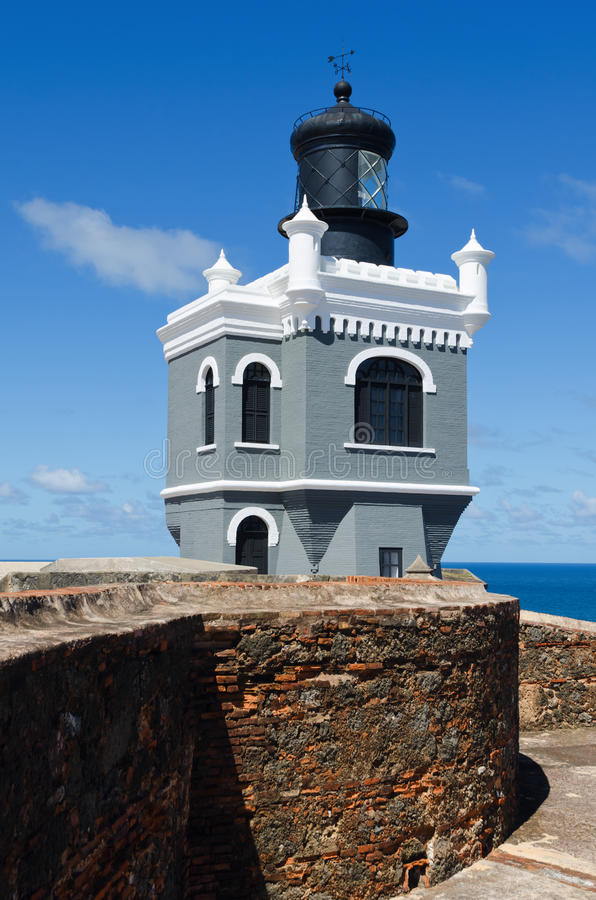 Download El Morro Lighthouse stock photo. Image of buildings, power - 24798110