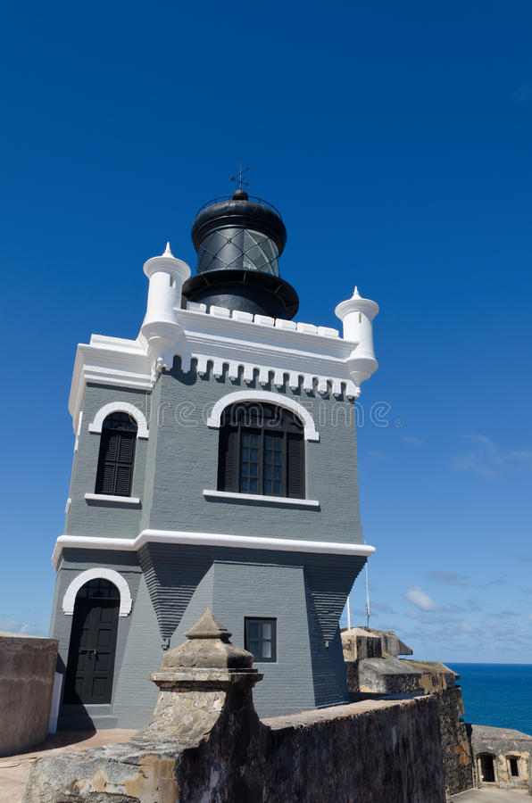 Download El Morro Lighthouse stock photo. Image of ruins, light - 24798150