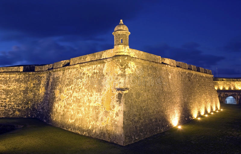 El Morro Old San Juan. On the tip of Old San Juan, Fort San Felipe del Morro. A 16th century citadel constructed to protect the town from attack by sea, El Morro stock image