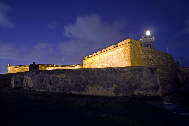 El Morro Old San Juan. Old San Juan, Fort San Felipe del Morro. A 16th century citadel constructed to protect the town from attack by sea stock photography