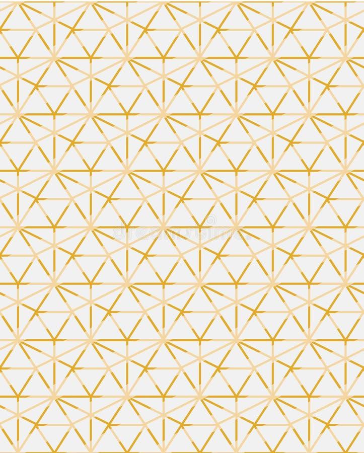 El mosaico contemporáneo geométrico del modelo del vector del ogrid de oro inspiró ilustración del vector