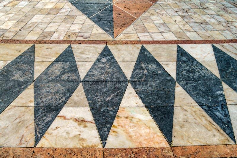 El mosaico de los descubrimientos marítimos portugueses en el Monumen foto de archivo libre de regalías
