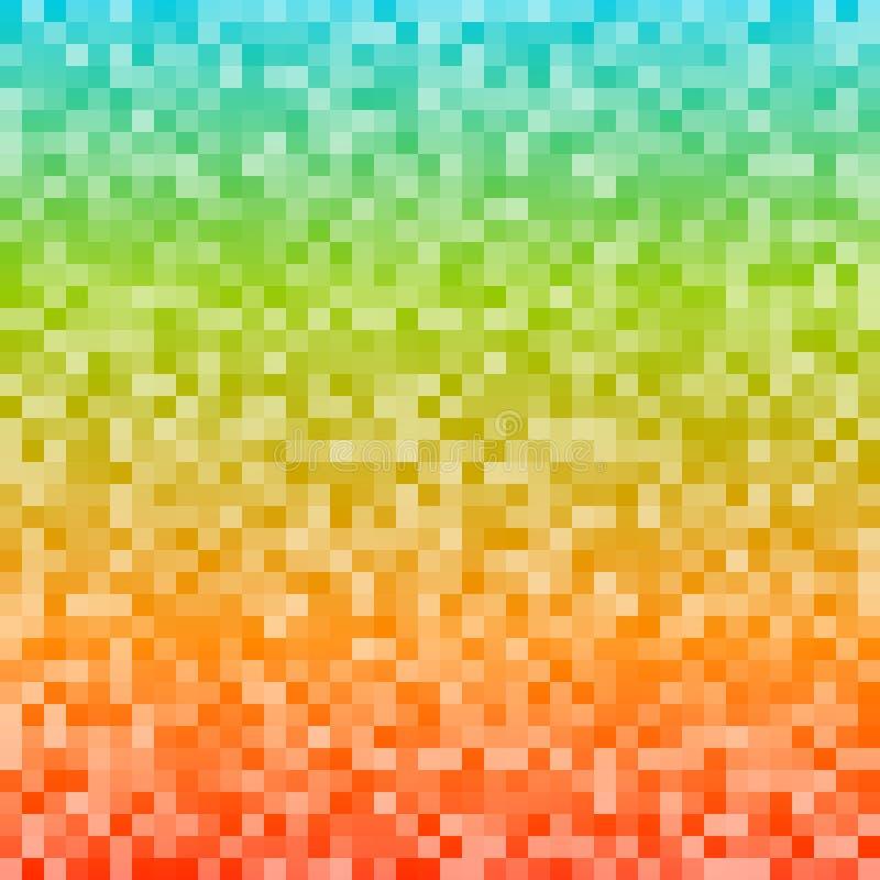 El mosaico del arco iris ajusta el fondo de la pendiente stock de ilustración