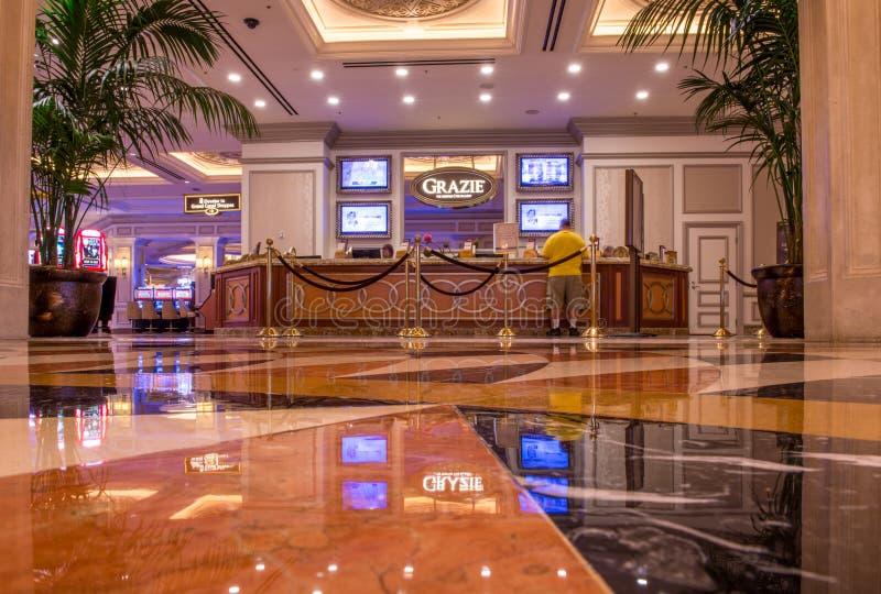 El mostrador de Grazie del hotel y del casino venecianos imágenes de archivo libres de regalías