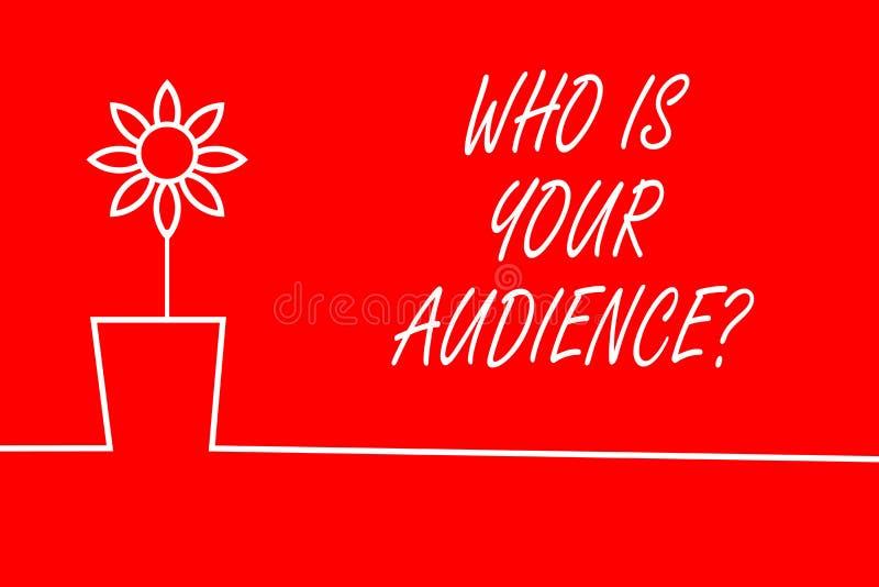 El mostrar de la muestra del texto qui?n es su pregunta de la audiencia Foto conceptual que es de observaci?n o que escucha ?l ilustración del vector