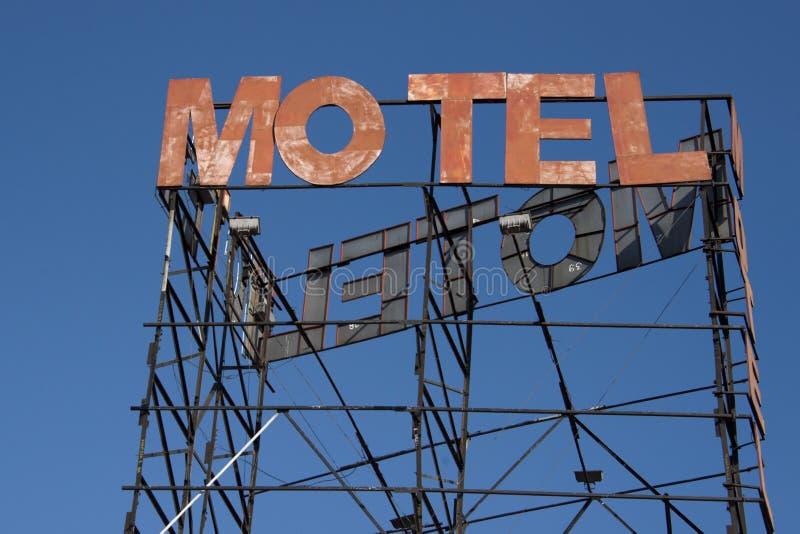 el motel aherrumbró muestra foto de archivo libre de regalías