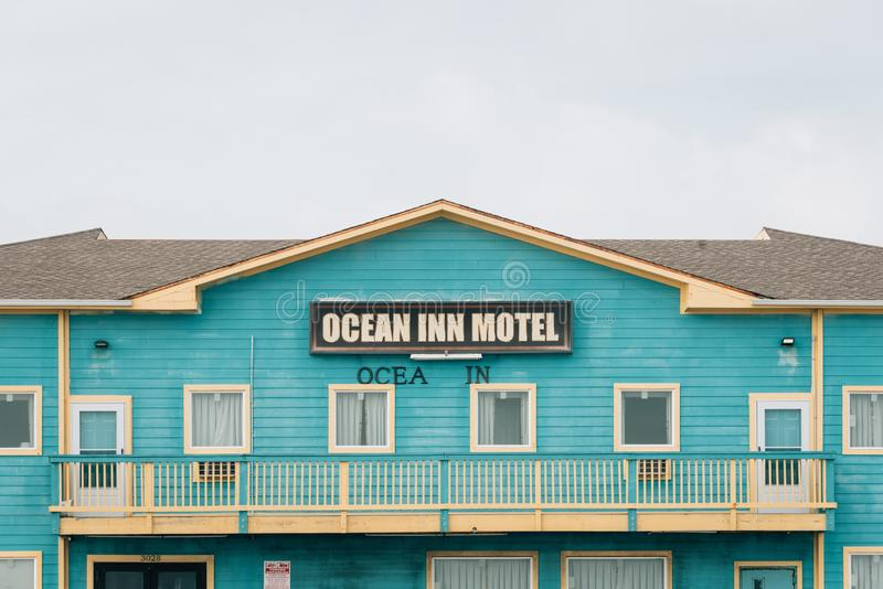 El motel del mesón del océano, en Galveston, Tejas foto de archivo libre de regalías
