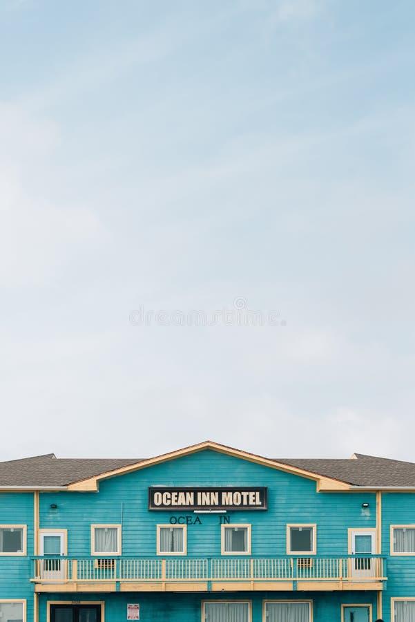 El motel del mes?n del oc?ano, en Galveston, Tejas foto de archivo libre de regalías