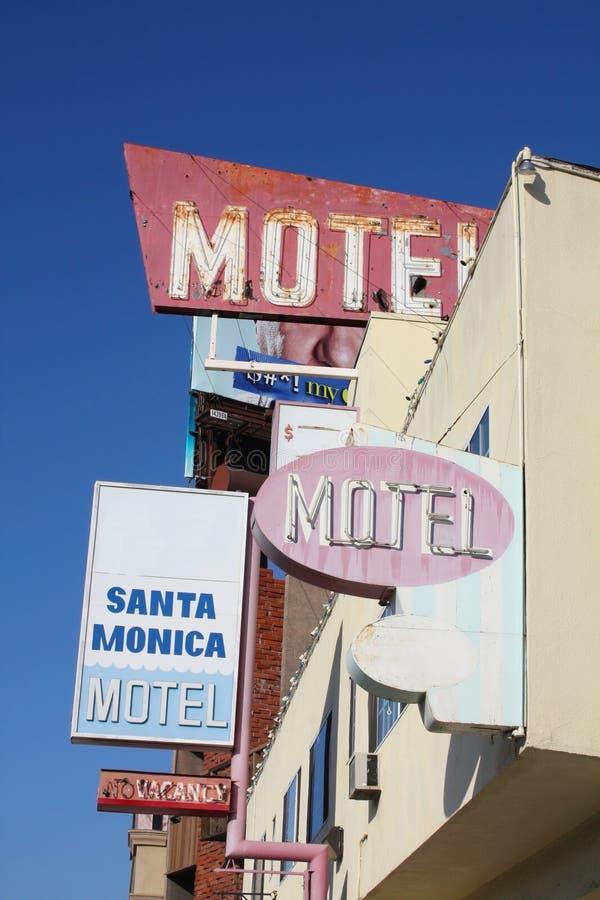 El motel firma adentro Santa Mónica imágenes de archivo libres de regalías