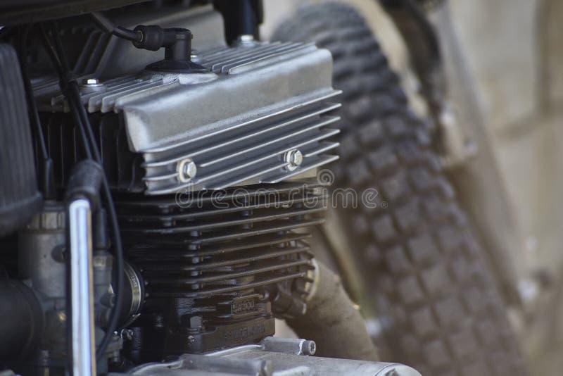 El motor de la motocicleta del vintage fotos de archivo