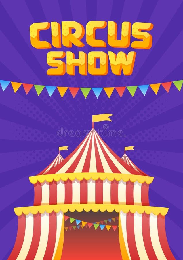 El moucup del cartel del circo stock de ilustración