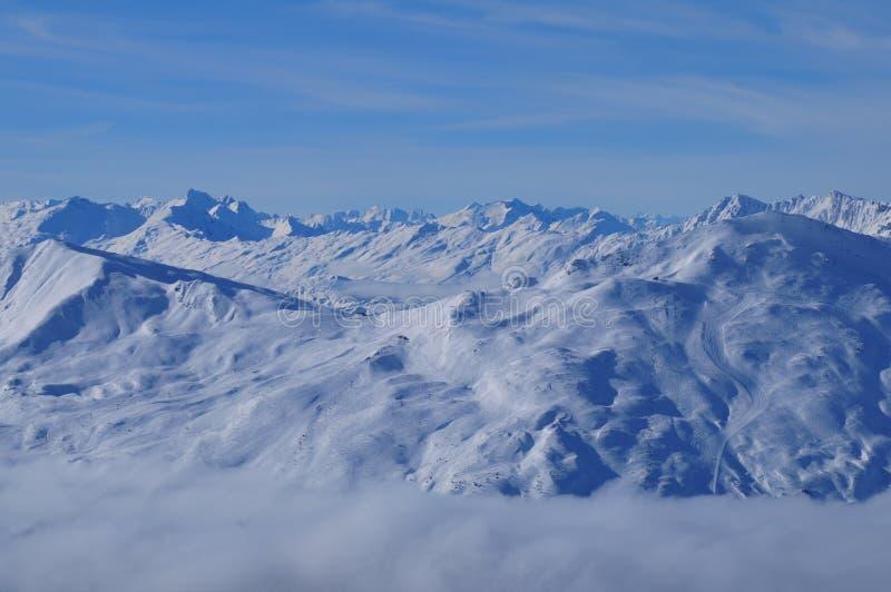El Mountain View suizo panorámico de las montañas en Rothorn en Lenzerheide en el ¼ de Graubà del cantón nden fotos de archivo